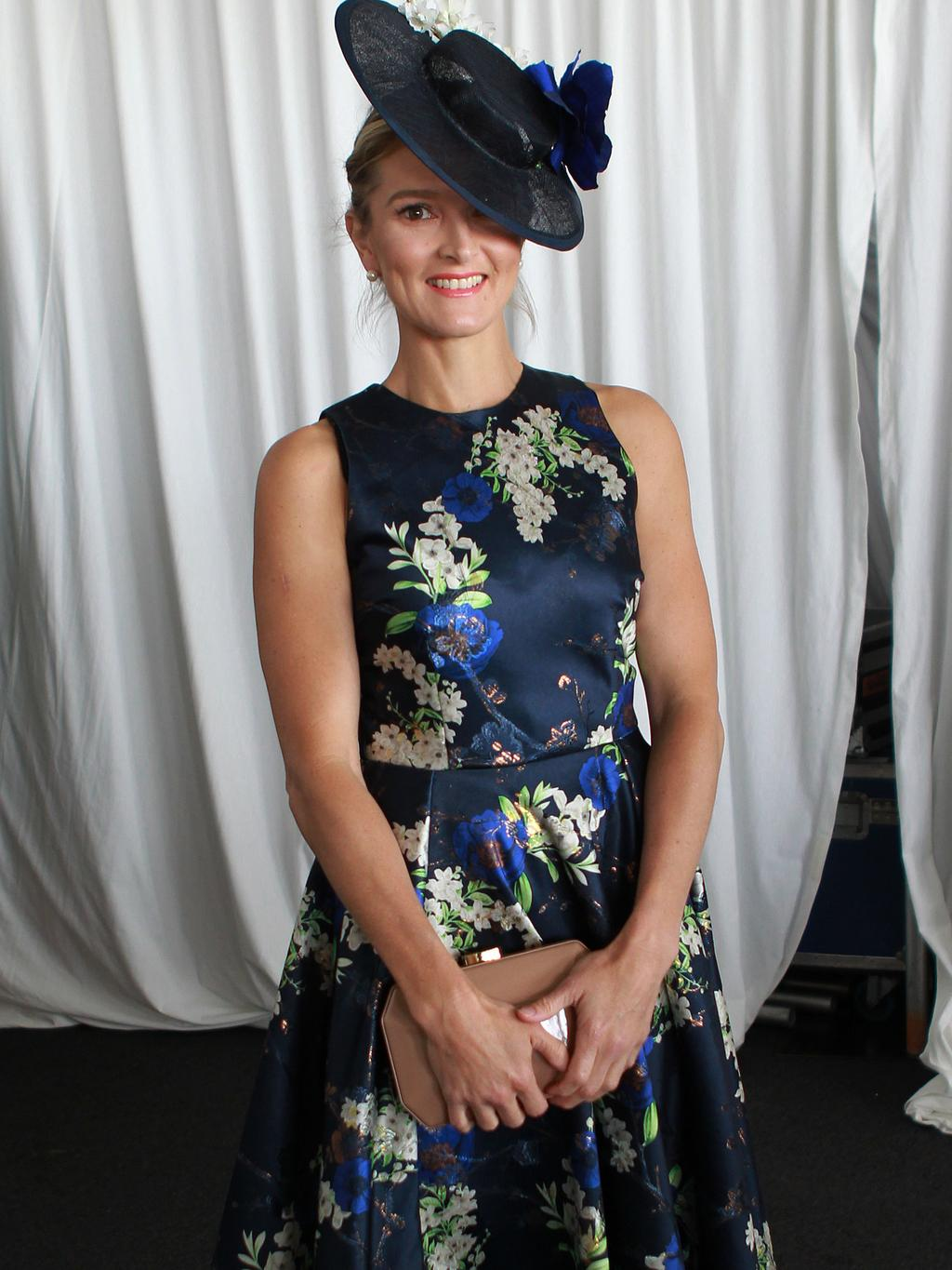 Myer Fashions on the Field at Ascot. Leah Helean. Picture: Sean Middleton