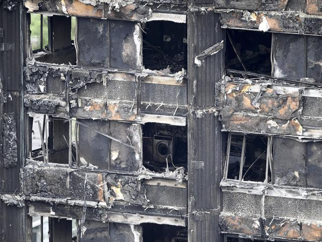 A washing machine is seen among the remains of Grenfell Tower. Picture: Getty