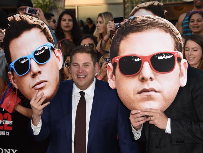 Jonah Hill makes an entrance at the world premiere of  <i>22 Jump Street</i>.