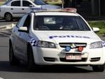 Police block Frankston Flinders Road in Somerville to investigate an alleged aggravated burglary.