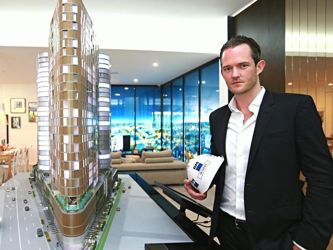 Tim Gurner at the display site for his FV residential project in Brisbane. Picture: Adam Armstrong