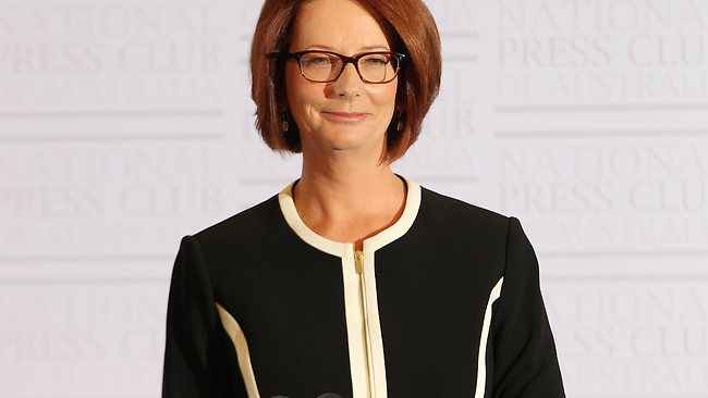 The Prime Minister Julia Gillard during an address to the National Press Club, in Canberra. Picture: Gary Ramage