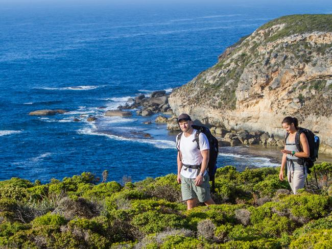 The Kangaroo Island Wilderness Trail offers spectacular views. <i> Picture: DEWNR</i>