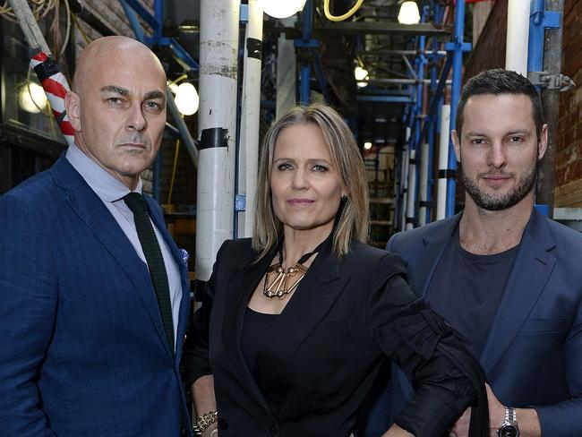 Neale Whitaker, Shaynna Blaze and Darren Palmer — as judges back on The Block.