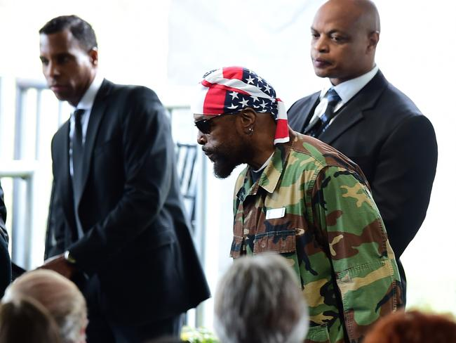 A-Team actor Mr T was at the ceremony to celebrate the life of Nancy Reagan.
