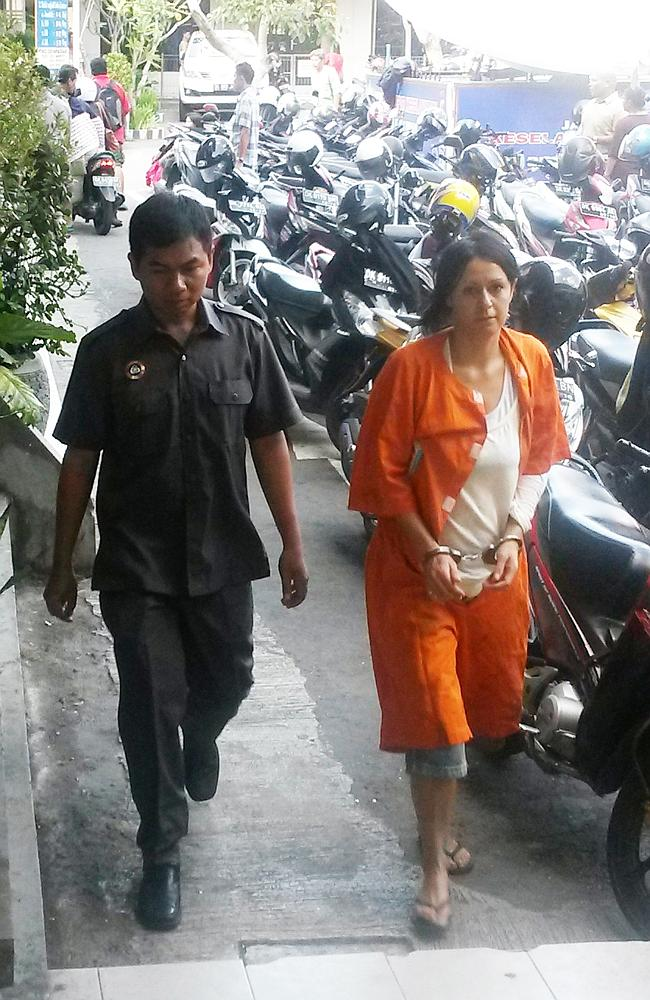 Handcuffed, jailed for almost three months and not charged ... Sydney woman Leeza Ormsby arrives for a psychiatric assessment in Bali.