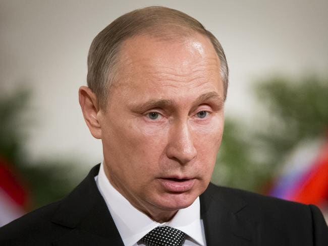"Russian President Vladimir Putin ... the Russian fighter moves have been ""sanctioned at the highest level"", Sweden's top military commander claims. Picture: AP Photo/Alexander Zemlianichenko"