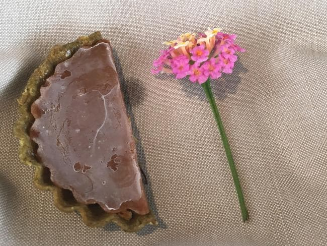 At Noma, pie comes with lantana flowers.