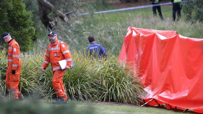 A body has been found on the banks of Darebin creek. Picture: David Crosling