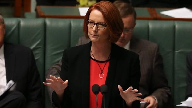 Julia Gillard left today's Labor Caucus meeting looking confident, despite speculation of a leadership challenge.