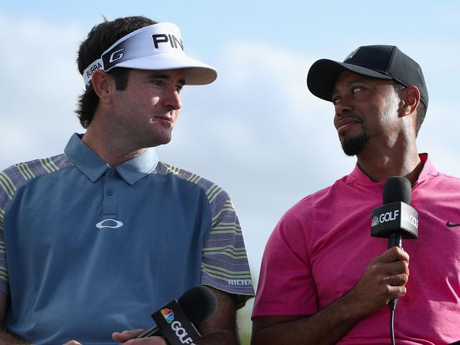 Bubba Watson and Tiger Woods speak with the media ahead of the Hero World Challenge.