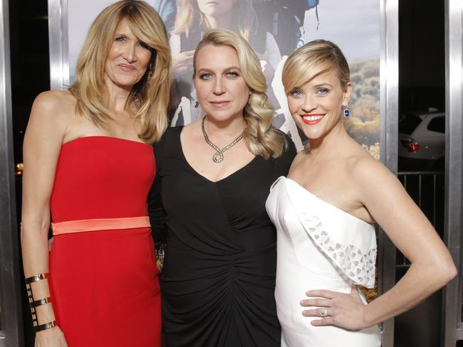 Wild at heart ... Laura Dern, author Cheryl Strayed and Reese Witherspoon attend the LA premiere of Wild. Pictures: Invision for Fox Searchlight/AP