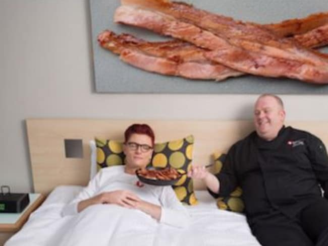 Travelodge has a new alarm clock customers can take advantage off, which smells like bacon. Picture: Supplied.