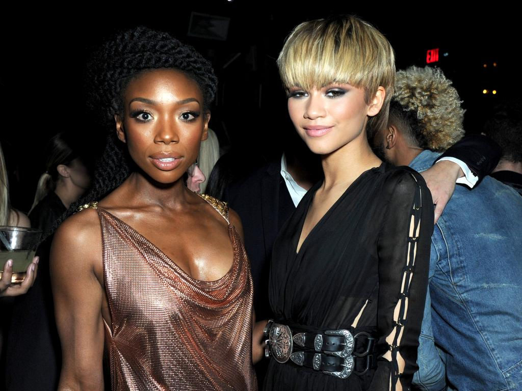 Brandy and Zendaya attend the Republic Records Grammy Celebration on February 15, 2016 in Los Angeles. Picture: Getty