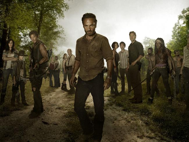 Actor ... Richardson had a minor role in zombie hit The Walking Dead. Picture: AMC