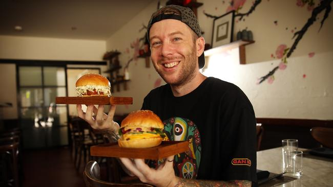 """... Japanese burgers. Pictured at his Surry Hills restaurant """"Ume"""