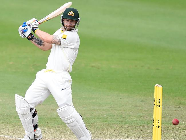 Matthew Wade wields the willow for Australia A in Townsville.