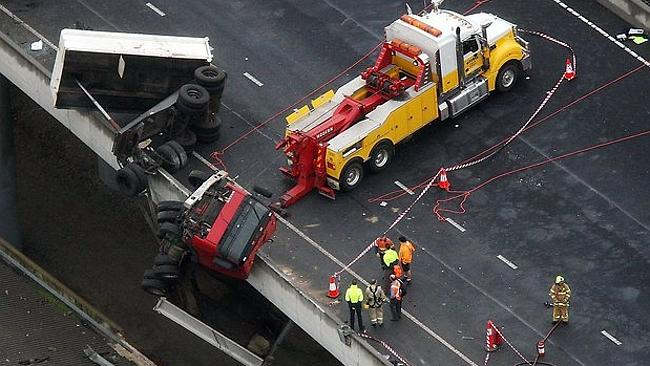The scene on the Bolte Bridge in May.