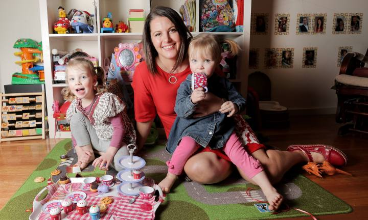Margaret Ambrose has written the piece and spoken candidly about her own IVF experiences, she's pic at home with her two children Greta, 3, and Rori, 2, (correct spelling).