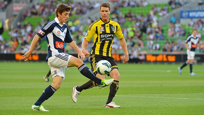 Marco Rojas shows off his skills during Victory's win over Wellington Phoenix. Picture: George Salpigtidis