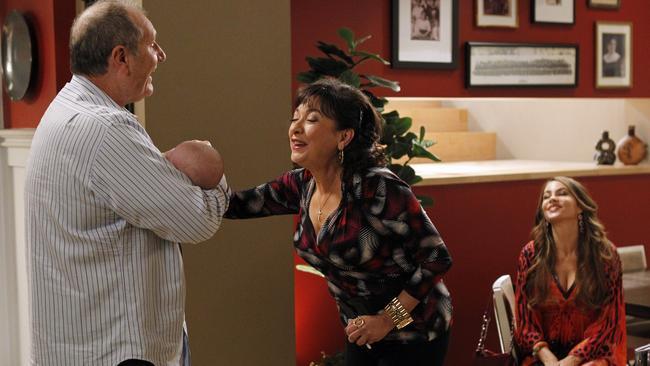 Pena played Gloria's mum in Modern Family.