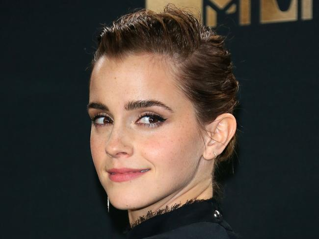 Emma Watson has donated $2 million to eradicating sexual harassment in the entertainment industry. Picture: AFP