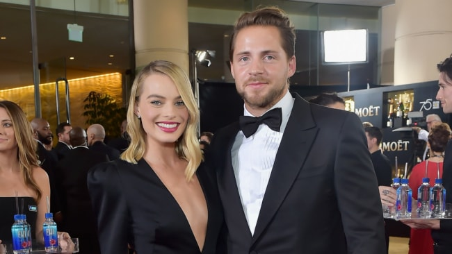 Margot Robbie with husband, Tom Ackerley at the Golden Globes this year Photo: Getty Images