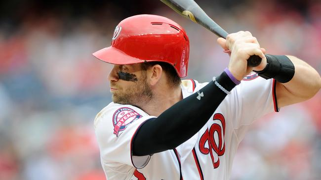 Bryce Harper #34 of the Washington Nationals.