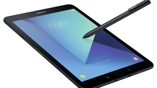 The Samsung Tab S3 is a high-end Google Android tablet with a crisp 9.7-inch touchscreen and a packaged stylus.