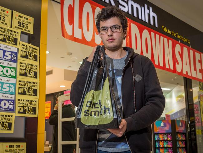 Alfonso Zampogna leaves Dick Smith for the last time. Picture: Jake Nowakowski