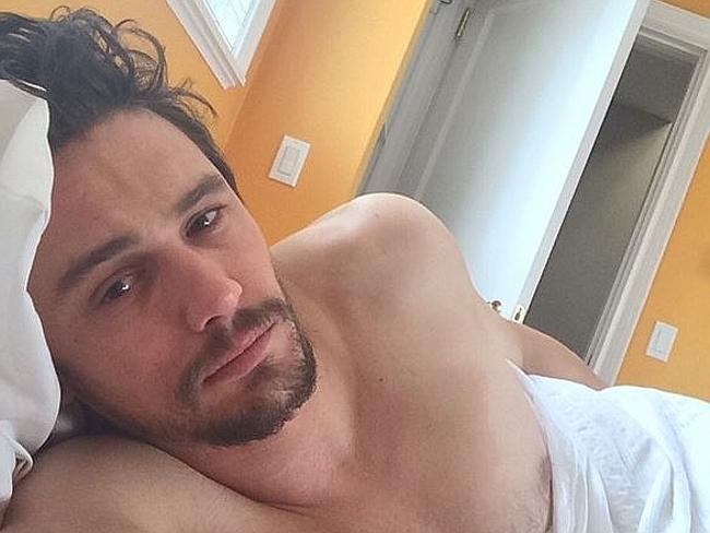 Provocateur ... breakfast in bed with James Franco. Picture: Instagram