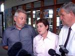Bruce and Denise Morcombe hold a press conference in Sippy Downs in November 2004 to thank everyone who had helped in the search for Daniel.