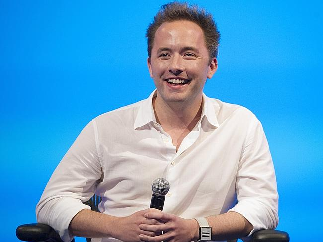 No wonder Dropbox chief executive and co-founder Drew Houston is smiling. His company is now worth more than $8 billion.