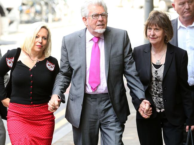 Rolf Harris and daughter Bindi Harris arrive at Southwark Crown Court.