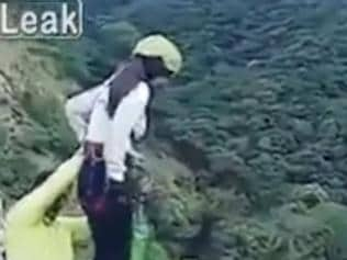 Bungee accident in Bolivia. Pic: YouTube/Mundo