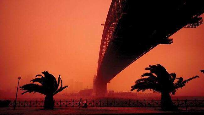 Sydney Life exhibition in Hyde Park … Dean Sewell 'Sydney Dust Storm'. Image courtesy City of Sydney
