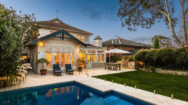 The pool and back garden of 19 Macartney Avenue, Chatswood.