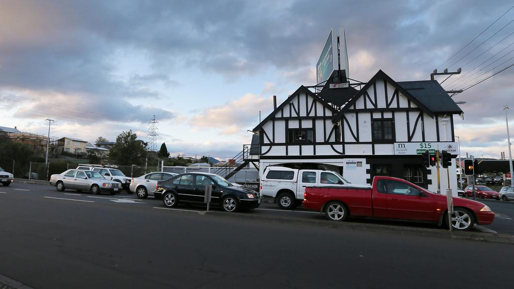 The car park of the Maypole Hotel, in New Town, where it is believed Dan Murphy's will soon open an outlet.