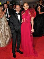 <p>Celebrity breakups ... Marc Anthony and Jennifer Lopez looking pretty miserable on May 2, 2011. On 15 July they announced they were breaking up. Picture: Stephen Lovekin/Getty Images</p>