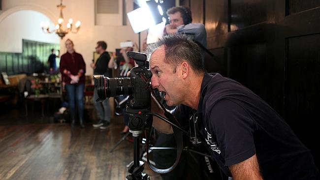 Herald Sun photographer David Caird captures the comedy at The Melbourne Supper Club photoshoot.