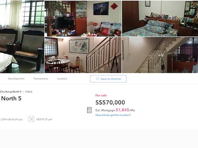 The real estate listing featured the racy image, top right. Picture: Asiawire/Australscope
