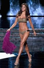 Miss Venezuela 2015, Mariana Jimenez, competes in the swimsuit competition during the 2015 Miss Universe Pageant on December 20, 2015 in Las Vegas. Picture: Getty