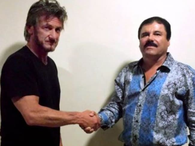 Sean Penn met with El Chapo and wrote about the experience for Rolling Stone. Picture: Rolling Stone