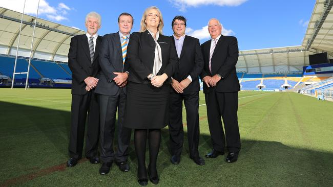 Titans' board of directors: Rebecca Frizelle, Darryl Kelly, Graham Annesley, Michael Searle and Paul Donovan.