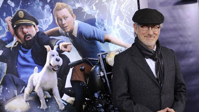 Producer and director Steven Spielberg attends the premiere of film 'The Adventures of Tintin' at the Ziegfeld Theatre in New York.