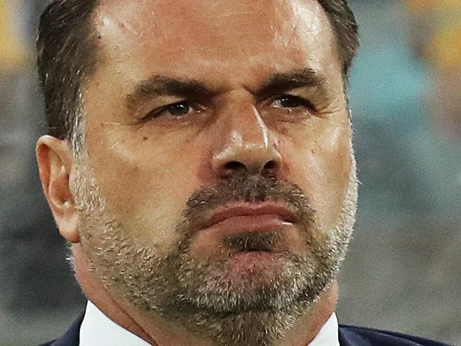 Socceroos coach Ange Postecoglou during the World Cup decider between Australia Socceroos and Honduras at ANZ Stadium. Picture. Phil Hillyard