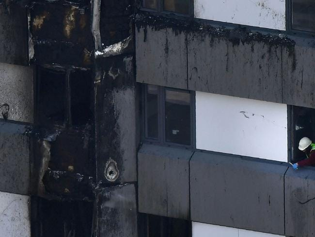 Witnesses say the cladding 'went up like matchsticks'. Picture: Ben Stansall