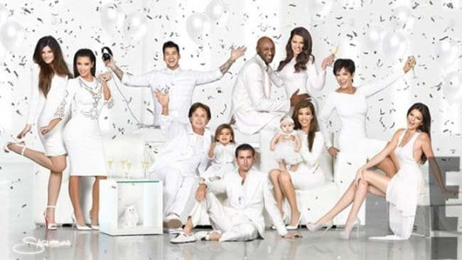 Reality TV family the Kardashians tweeted this image from their 2012 Christmas card.