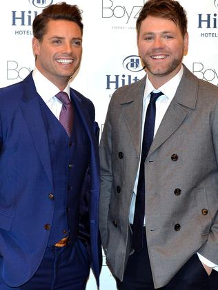 Keith Duffy and Brian McFadden are Boyzlife. Picture: Getty