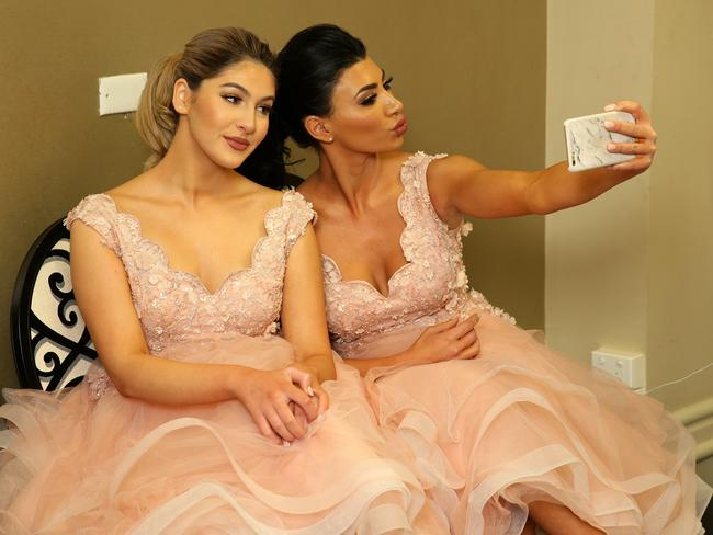 Salim Mehajer's sister Mary posing for a photo at sister Kat and her new husband Ibraham's Wedding reception held at Doltone House, Hyde Park. Picture: Jonathan Ng